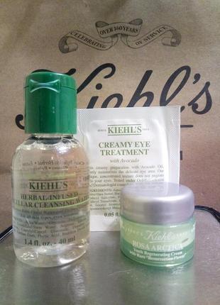Набор 3 ед.: мицелярка для снятия макияжа, крем для лица, крем для глаз с авокадо  kiehls