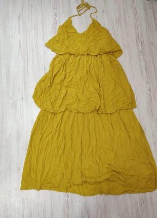 Платье макси летнее