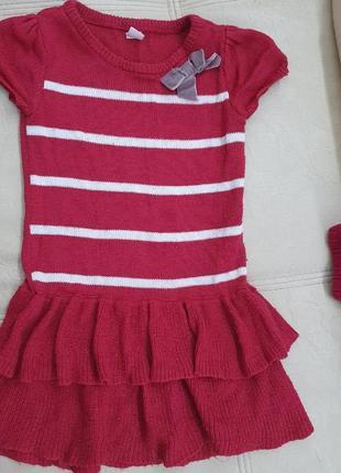 Платье красивое, теплое 110-122 рост 4-7лет для девочки