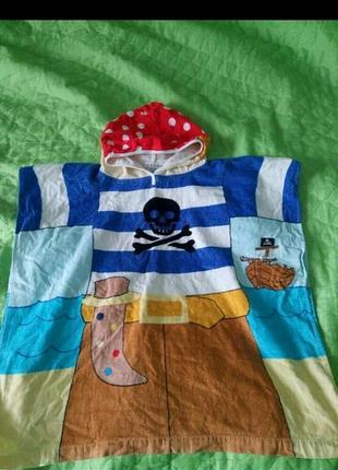 Полотенце-пончо пират