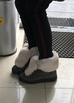 Зимние ботинки натуральный нубук с мехом р.39-40