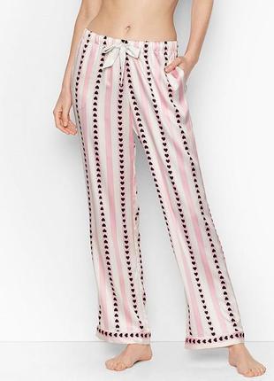 Victoria secret сатиновая пижама для сна victorias secret штаны для дома виктория сикрет