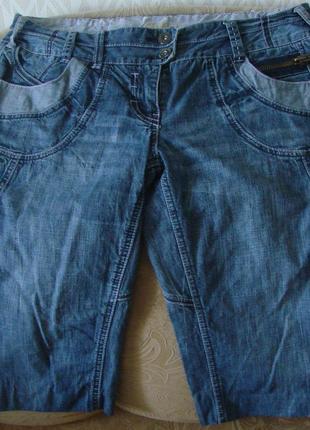 Шорти джинсові crop next. розмір 40 (12)