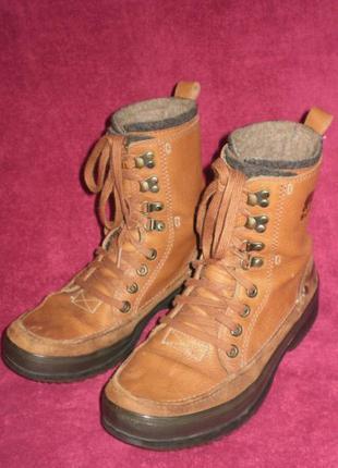 Кожаные деми ботинки sorel 40р