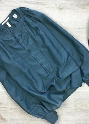 Элегантная блуза/блузка с рукавами фонарик с шелка scotch & soda maison scotch