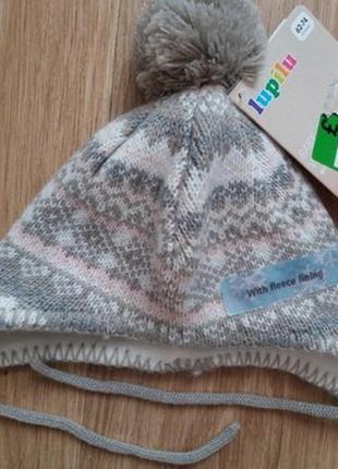 Зимняя красивая шапочка для ребенка lupilu германия. новая.