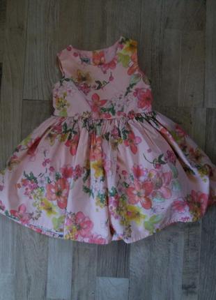 Платье сарафан на девочку next 9-12мес.
