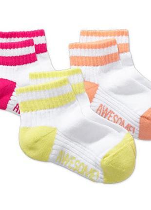 Комплект спортивных носочков - 3 пары - tchibo - хлопок, утепленная подошва - размер 31-35