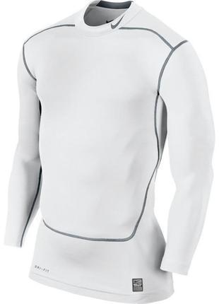 Крутая мужская термо-кофта nike pro combat dri-fit core compression 449795-100