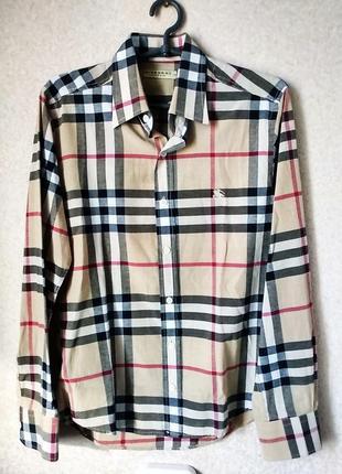 Burberry рубашка клетка р s