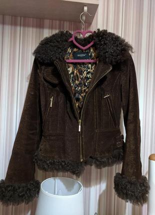 Теплая курточка косуха италия