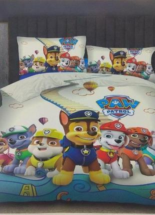 """Комплект постельного белья фланель детский """"щенячий патруль"""", в наличие разные"""