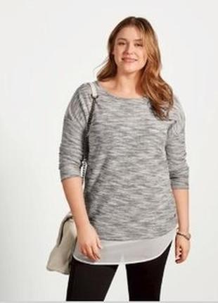Пуловер обманка.  європейський розмір ххл 52/54