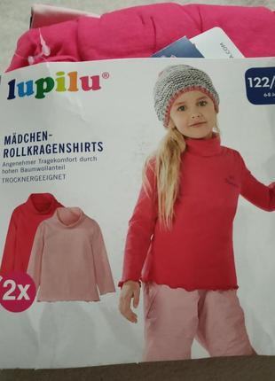 Новый набор гольфов lupilu р.122-128 для девочки, 2 шт на 6-8 лет