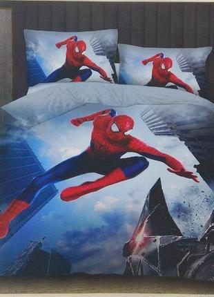 Комплект постельного белья фланель детский человечек паук и другие