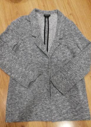Интересный вязаный кардиган пиджак жакет topshop