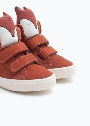 Замшевые хайтопы,ботинки,утепленные кеды zara baby