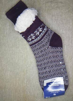 Мужские носки на меху с тормозами