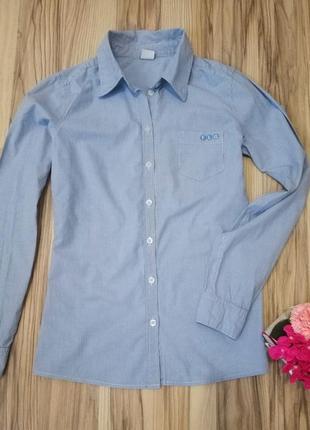Приталенная рубашка в полоску