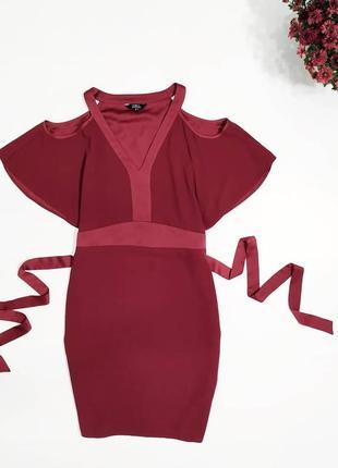 ❤️ шикарное бордовое платье