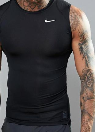 Спортивная майка безрукавка  футболка компрессионная nike pro xl
