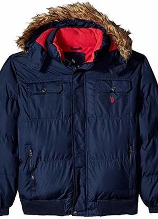 Куртка зимняя пуховик мужская us polo 3xl