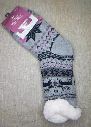 Женские термо-носки на меху с тормозами