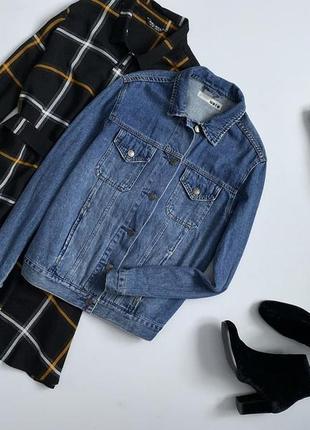 Крутая джинсовая куртка topshop