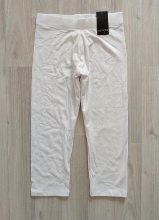 Білі піжамні лосінки белые пижамные лосины