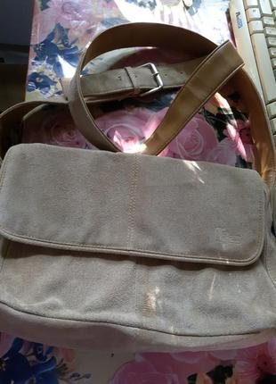 Замшевая сумочка