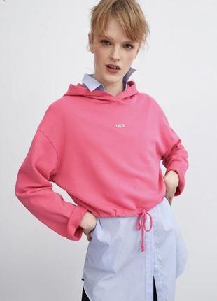 Новое худи свитер с капюшоном zara