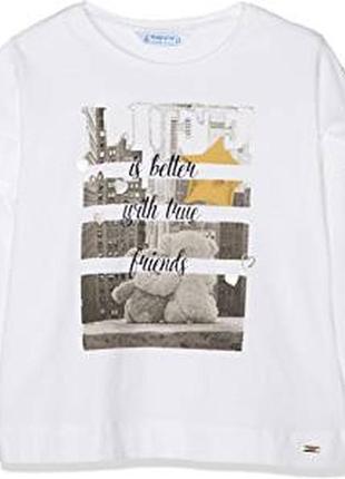 Новый реглан футболка с длинным рукавом mayoral