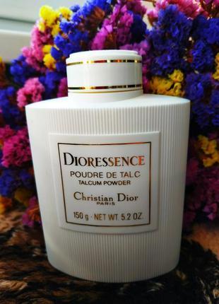 Dior dioressence парфюированный тальк для тела, talcum powder, оригинал, винтаж