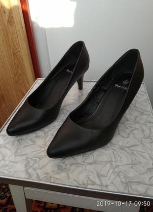 Туфли кожаные на широкую ногу, р. 39