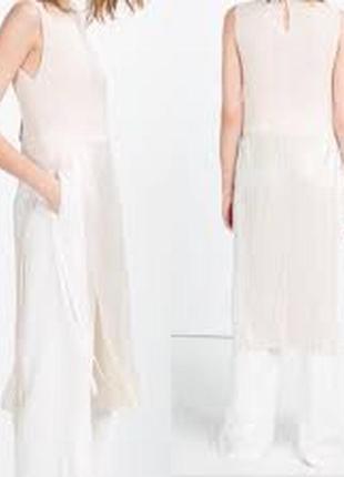 Zara плиссированное платье-туника