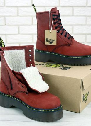 Стильные ботинки ❄️ dr. martens black ❄️мех зима