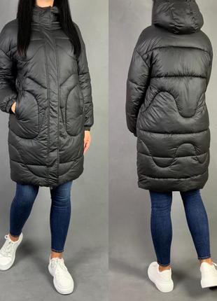 Пуховик объёмный куртка  оверсайз  пальто био  пух.