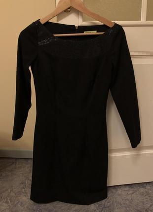 Чёрное платье versace jeans оригинальное