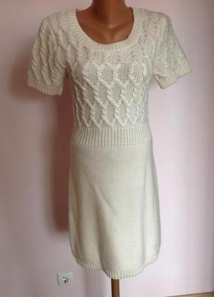 Caroll s- m/ трикотажное платье- туника. шерсть50%