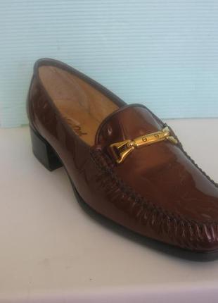 Туфли английского бренда van dal оригинал, квадратный носок