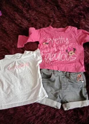 Комплект трикотажные шорты футболка и реглан