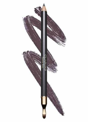 Карандаш для глаз с кистью clarins crayon khol pencil 07 smoky plum