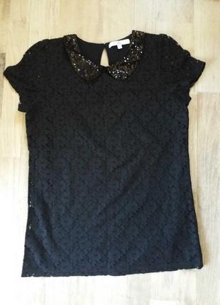 Блузка футболка на девочку m&s 13-14лет.