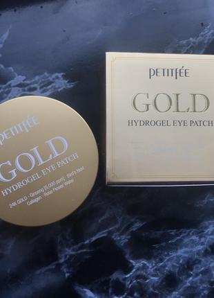 Petitefee, патчи для глаз с золотым гидрогелем, 60шт
