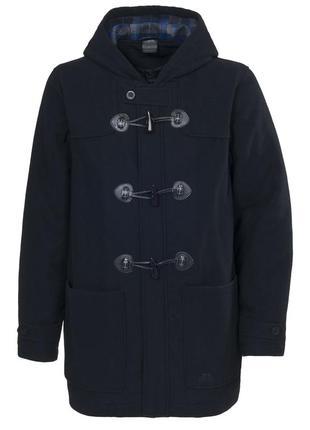 Тёплое зимнее шерстяное синее пальто trespass xs-s