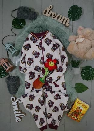 Теплая флисовая пижама кигуруми слип гарри поттер грифиндор №25-1 №25-2