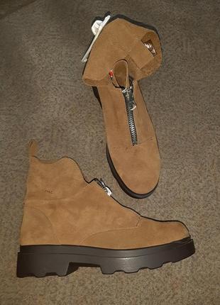 Стильные замшевые ботинки emmshu(испания)