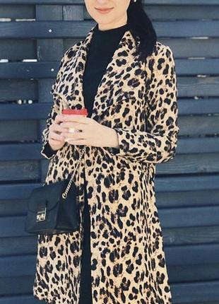 Леопардовый плащ размер м
