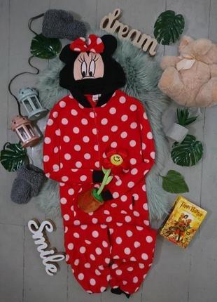 Теплая флисовая пижама кигуруми слип minnie #28
