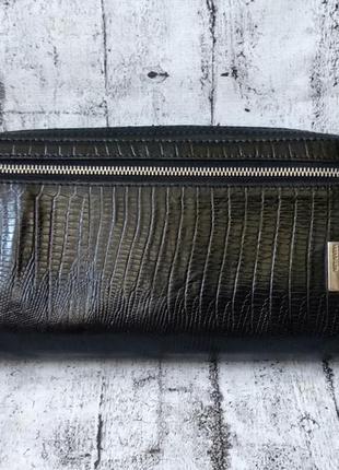 Большое вместительное барсетка/портмоне neri karra нат. кожа